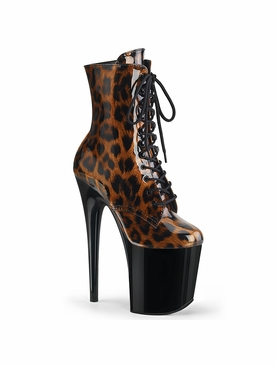 Pleaser Flamingo-1020LP Lace-up Front Ankle Boot