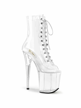 Pleaser Flamingo-1021C Peep Toe Ankle Boot