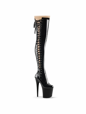 Pleaser Flamingo-3050 Stretch Thigh High Boot