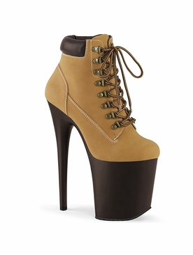 Pleaser Flamingo-800TL-002 Lace-Up Front Bootie