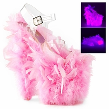 Pleaser Flamingo-808F Feathery Ankle Strap Sandal