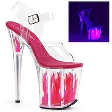 Pleaser Flamingo-808FLM Ankle Strap Stripper Heels