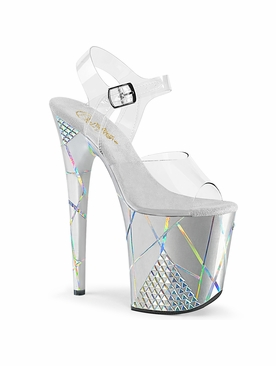 Pleaser Flamingo-808SHAPE-1 Ankle Strap Sandal