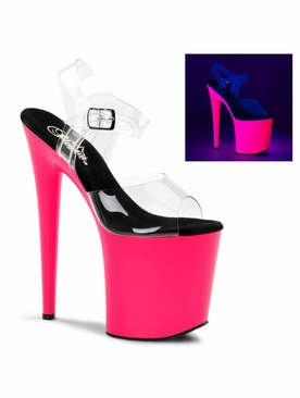 Pleaser Flamingo-808UV Ankle Strap Stripper Shoe