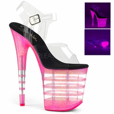 Pleaser Flamingo-808UVLN Ankle Strap Stripper Heels