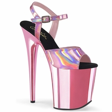Pleaser Flamingo-809HG Chrome Plated Ankle Strap Sandal