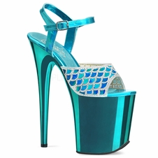 Pleaser Flamingo-809MMRS Mermaid Ankle Strap Sandal