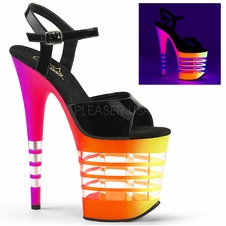 Pleaser Flamingo-809UVLN Ankle Strap Stripper Shoes