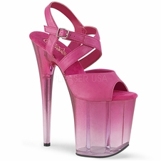 Pleaser Flamingo-822T Criss-Cross Tinted Ankle Strap Sandal