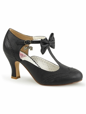 Pleaser Flapper-11 Wingtip T-Strap Pump