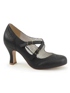 Pleaser Flapper-35 Criss Cross Mary Jane Pump