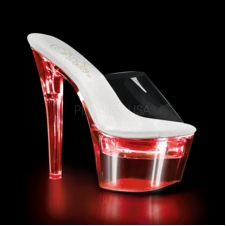 Pleaser Flashdance-701 Chargeable Platform Slide 7 Flashing Colors
