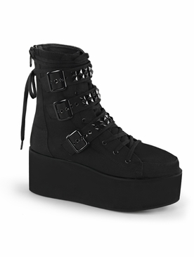 Pleaser Grip-101 Multi Strap Ankle Boot