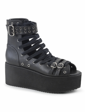 Pleaser Grip-105 Lace-Up Ankle High Sandal