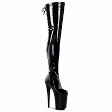 Pleaser Stripper Boots Infinity-3063 Stretch Thigh High Boot