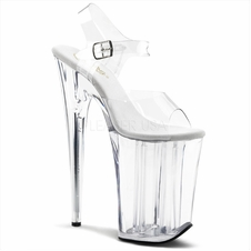 Pleaser Infinity-908 Stripper Platform Ankle Strap Shoes