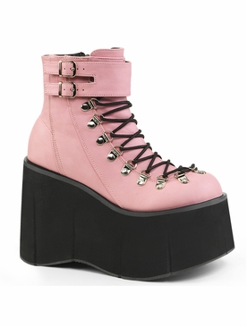 Demonia Kera-21 Faux Lace Up Ankle Boot