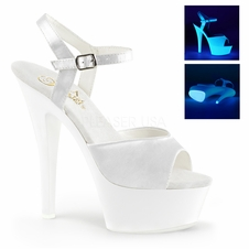Pleaser Kiss-209UV Platform UV Ankle Strap Stripper Shoe