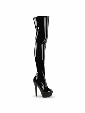 Pleaser Kiss-3000 Stiletto Heel Thigh High Boot