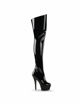 Pleaser Kiss-3010 Stiletto Heel Thigh High Boot