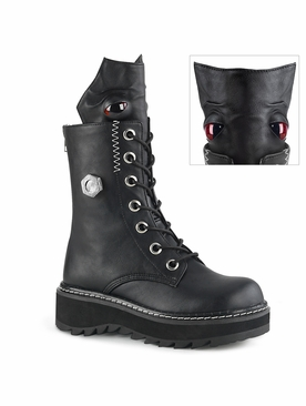 Pleaser Lilith-220 Lace-Up Mid-Calf Monster Boot