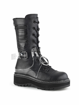 Pleaser Lilith-271 Lace-Up Mid-Calf Boot