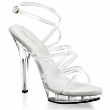 Pleaser LIP-106 Criss Cross Ankle Strap Sandal