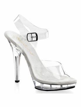 Pleaser Lip-108 Ankle Strap Sandal