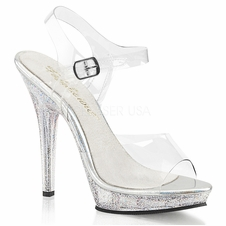 Pleaser Lip-108MG Ankle Strap Sandal