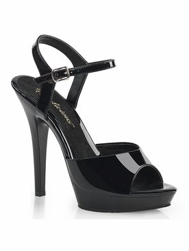 Pleaser Lip-109 Platform Sandal With Ankle Strap
