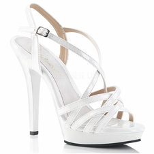 Pleaser Lip-113 Criss-Cross Ankle Strap Sandal