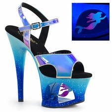 Pleaser Moon-711MER Cut-Out Platform Ankle Strap Sandal