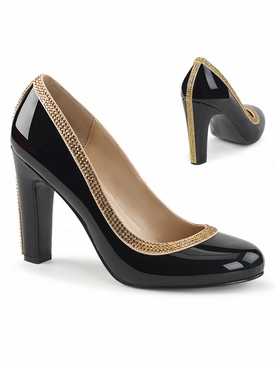 Pleaser Queen-04 Pump With Jewel Trim