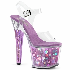 Pleaser Radiant-708BHG Bubble Holographic Ankle Strap Sandal