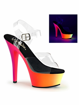 Pleaser Rainbow-208UV Ankle Strap Sandal