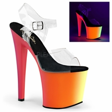 Pleaser Rainbow-708UV Platform Neon UV Reactive Sandal