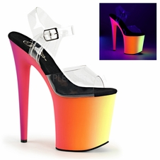 Pleaser Rainbow-808UV Blacklight Reactive Stripper Heels