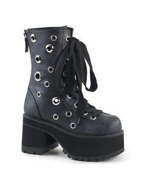 Demonia Ranger-310 Lace Up Front Ankle Boot