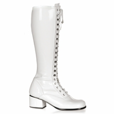 Pleaser Retro-302 Steel-Toe Knee High Boot