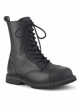 Pleaser Riot-10 Men's Steel Toe Lace-Up Ankle Boot