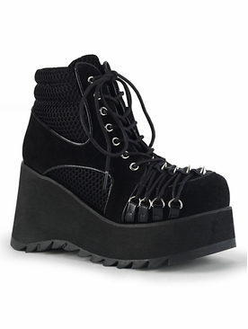 Pleaser Scene-32 Ankle Boot W/Cone Spikes Details