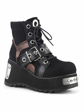 Demonia Scene-53 Lace Up Ankle Boot