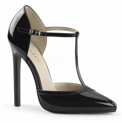 Pleaser Sexy27 T- Strap d'Orsay Pointed Toe Pump