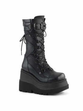 Pleaser Shaker-70 Wedge Platform Boot