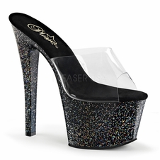 Pleaser Sky-301MG Platform Slide With Mini Glitter