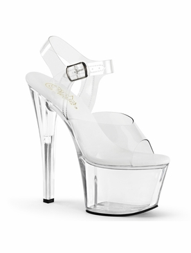 Pleaser Sky-308VL All Vegan Ankle Strap Sandal