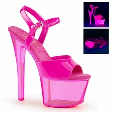 Pleaser Sky-309UVT Tinted Ankle Strap Stripper Heels