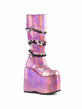 Pleaser Slay-301 Platform Knee High Boot