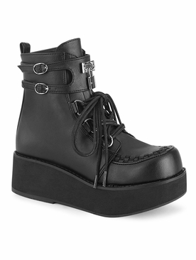Pleaser Sprite-70 Lace-Up Front Ankle Boot