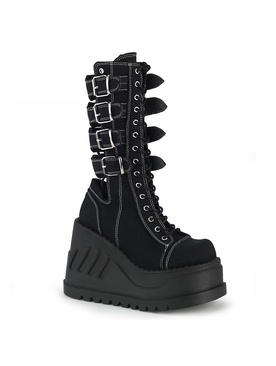 Pleaser Stomp-210 Open Back Mid-Calf Boot